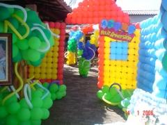 DecoraÇÃo com balÕes para festa infantil