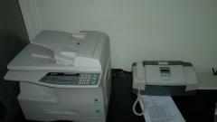 Xerox, scanner, fax e papelaria