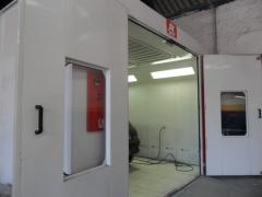 Frente cabine de pintura