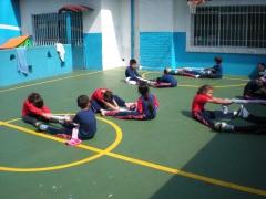 Atividade de educação física com a turma do 3º ano