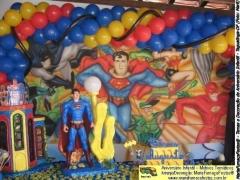 Liga da justiça - tema de super-heróis desenvolvido pela maria fumaça festas, para decorar o seu evento de aniversário infantil.