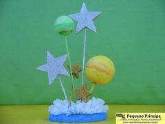 Lembrancinha de mesa - o pequeno principe - maria fuma�a festas temas infantis com criatividade. saiba mais acessando www.mariafumacafestas.com.br