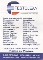 Festclean descartaveis e limpeza