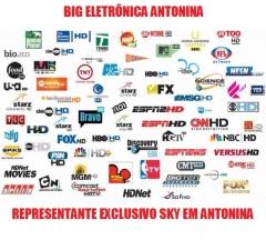 Big eletrÔnica venda e instalaÇÃo de antenas sky livre e som automotivo eletronica geral em antonina - foto 2