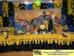 Batman - decoração de aniversário infantil com a qualidade da maria fumaça festas