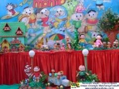 Turma da mônica - decoração de aniversário infantil com temas da maria fumaça festas