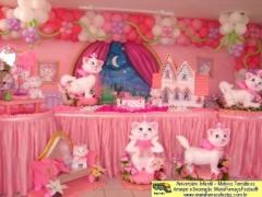 Gatinha marie - decorando sua festa infantil com temas desenvolvidos pela maria fumaça festas --> www.mariafumacafestas.com.br