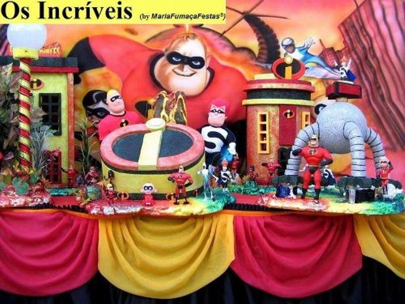 Os Incríveis - Decorando sua festa infantil com temas desenvolvidos pela Maria Fumaça Festas --> www.mariafumacafestas.com.br