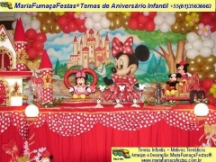 Castelo da minnie - decorando sua festa de aniversário infantil com temas desenvolvidos pela maria fumaça festas --> www.mariafumacafestas.com.br