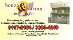 Souza&carmo e uma construtora que presta serviço de construção e reforma