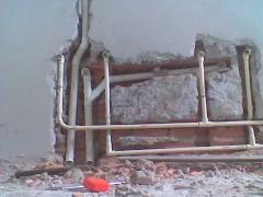 Agua quente/fria esgoto/respiro p/ 2 lavatórios