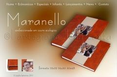 Album capa em courino e foto baixo relevo
