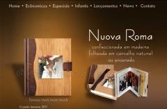 Album capa folheada em madeira natural
