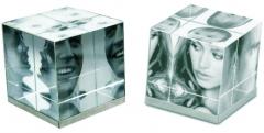 Cubo foto cristal 3d