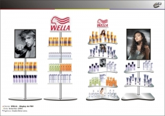 Displays de ponto de venda para wella