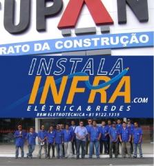 Equipe da instalainfra na construção da tupan de maceió em 2009/10