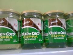 óleo de coco extra vigem copra