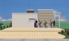 Desenvolvimento do projeto para a construtora construmeta. (opções de cobertura, fachada, mudanças na planta e maquete eletrônica). metragem: 68,48 m².