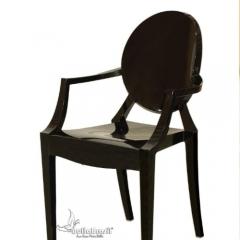 Cadeira louiz ghost com braço preta - cadeira de design www.bellabrasil.com.br
