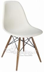 Cadeira charles eames base em madeira e concha em polipropileno branca- cadeira de design - www.bellabrasil.com.br