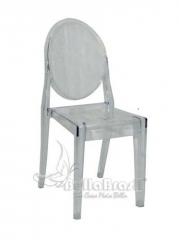 Cadeira l g vision sem braço transparente -  cadeiras de design - www.bellabrasil.com.br