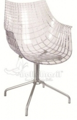 Cadeira cob em policarbonato com base cromada - cadeira de design - www.bellabrasil.com.br
