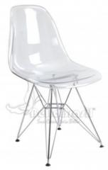 Cadeira de acr�lico charles emens cristal base cromada -cadeiras de design - www.bellabrasil.com.br