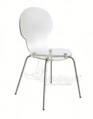 Cadeira em acrilico cindy com base cromada - cadeira de design - www.bellabrasil.com.br