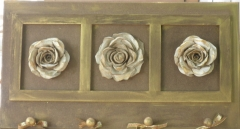 Quadro decorativo floral em mdf