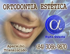 Ortodontia est�tica especializada - (84) 3086-9870 - aparelho transl�cido em safira