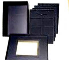 Caixa para bijuterias c/ 4 bandejas removíveis tam. grande