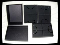 Caixa para bijuterias c/ 3 bandejas remov�veis tam. pequeno