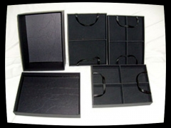 Caixa para bijuterias c/ 3 bandejas removíveis tam. pequeno