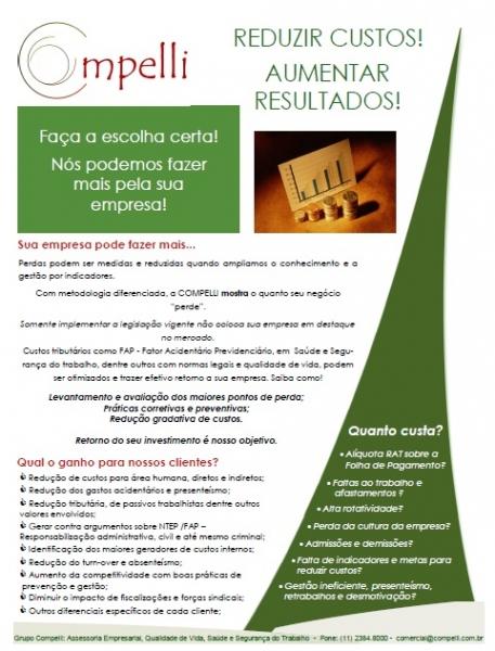 LTCAT - NR 15 - LAUDO DE INSALUBRIDADE - GRUPO COMPELLI - (11) 2384-8000