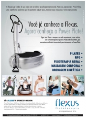 Anuncio flexus fisioterapia - power plate - lançamento - espirito santo