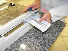 Os materiais de uso  nas coletas e análises são embalados um a um para posterior esterelização.