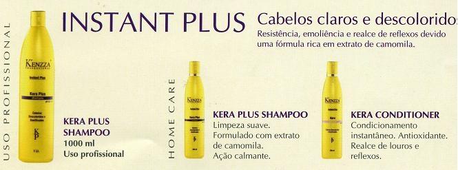 Kera Plus para cabelos claros ou descoloridos.