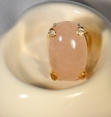 Anel pedra rosa bijuteria