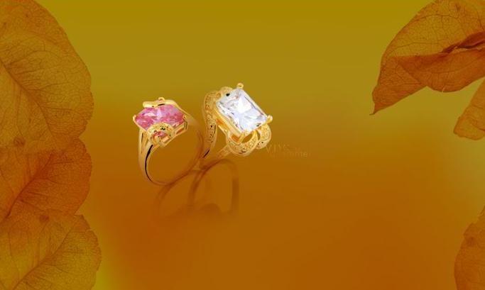 Anéis folheados em ouro