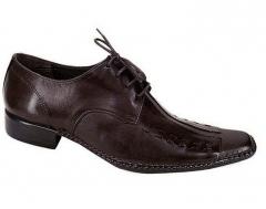Sapato social em couro pelica com cadarço