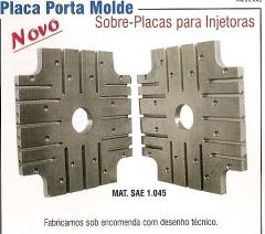 Placa porta molde - previsÃo presilhas