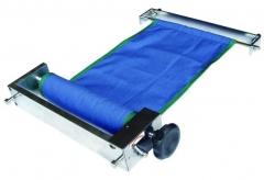 Faixa de compressão para urografia de mesa, estrutura adaptável a qualquer mesa de exames. faixa em lona crua maleável, estrutura com acabamento em alumínio.