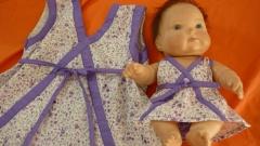 Vestido para a filha e a boneca