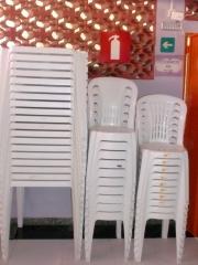 Cadeiras plasticas com certificado de qualidade do imetro