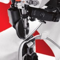 Pfaff coluna transporte triplo com refilador de borda de material.