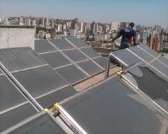 Aquecedor solar para condomínios.