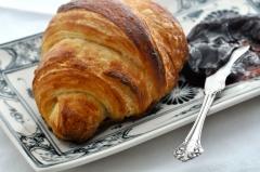 Croissant, tran�a folhada, esfihas, hamburg�o, bauru folhado, etc