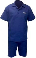 Conjunto operacional com camisa e bermuda em brim