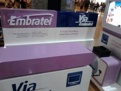 Letreiro Embratel - Letra Caixa Em Acrílico Aeroporto De Fortaleza