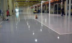 Revestimento de alta resistencia em piso industrial